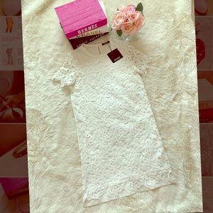 New Zara Trafaluc Lace Dress White size S